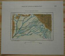 1883 Perron map CANALS OF PUNJAB, PAKISTAN / INDIA (#52)