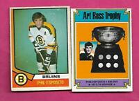 2 X 1974-75 OPC BRUINS PHIL ESPOSITO  CARD  (INV# C4178)