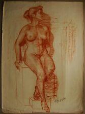 Russian Ukrainian Soviet Painting realism female portrait nude figure girl
