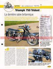 TRIUMPH 750 Trident 1975 Joe Bar Team Fiche Moto #007705
