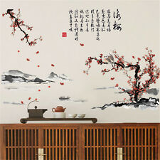 Plum Blossom  Flower Room Home Decor Removable Wall Stickers Decals Decorations