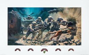 """""""Into the Breach"""" 75th Ranger Regiment Print (Military edition) by Stuart Brown"""