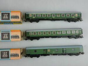 Zeuke BTTB Spur TT 2x 3610 + 3810 Reisezugwagen Bahnpostwagen Box 117983