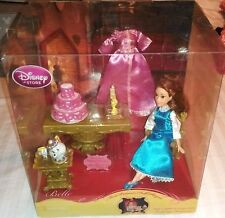 "New"" Disney Store Exclusive 6"" ~ Belle Mini Playset ~ Barbie Doll Lumiere Chip"