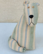 Hand Made Cloth Doll DOG Art Doorstop Adorable Unusual Button Eye Puppy Cute