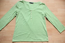 BODEN  green cotton 3/4 sleeve top  size 8