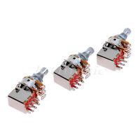 3pcs B250K OHM Audio Tone Guitar Switch Potentiometer pots