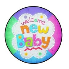 """48 Welcome New Baby!!!  ENVELOPE SEALS LABELS STICKERS 1.2"""" ROUND"""