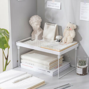 Desktop Desk Bookshelf Storage Files Shelf Rack Holder ! Organizer Display Books