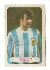 MARIO ALBERTO KEMPES 1978 ORIGINAL FOOTBALL SOCCER CARD Nº 18