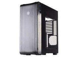 Silverstone FT04B-W Extended-ATX Tek Aluminum Full Tower Computer Case, Black