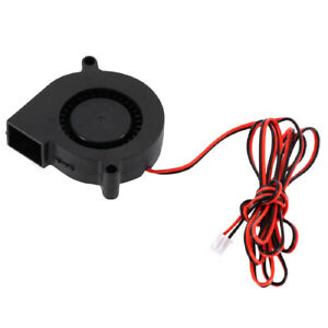 Ultra-quiet 12V 0.13A 50mm Blower Turbo Fan 5015 Cooling for 3D Printer