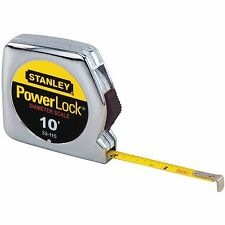 Stanley Tools 33-115 10 ft. Powerlock Pocket Tape Rule With Diameter Scale