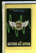 Reo Speedwagon 2002 All Access Backstage Pass Laminate; Authentic Used Pass