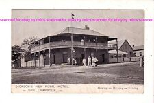 DICKSON'S NEW ROYAL HOTEL, SHELLHARBOUR Advertising pcd c.1900s AUSTRALIA