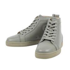 1256cccbddc NIB CHRISTIAN LOUBOUTIN  Louis  Olive Green Leather Hi-Top Sneakers 6 ...