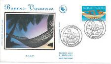 2002 - ENVELOPPE 1er JOUR FDC SOIE - N° 3494 - VACANCES - La Rochelle