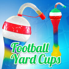 Football Yard Cups Slush Slushy Mix Colours - 350ml, 11,8oz [1 Box 133 pcs]