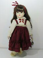 """Vintage Brinn's Musical Porcelain Doll 14 1/2""""  """"The Way We Were""""  Tag/ Display"""