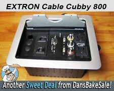 Extron Aluminum 800 Cable Cubby Flush Mount with A/V RCA, USB, Ethernet & Power