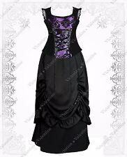 Victorian Gothic Steampunk Civil War Renaissance Velvet Corset Top Skirt Dress