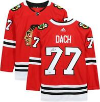 Kirby Dach Chicago Blackhawks Autographed Red Adidas Authentic Jersey