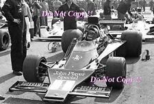 Ronnie Peterson JPS Lotus 72E British Grand Prix 1974 Photograph 2