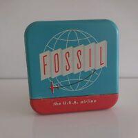 boite coffret FOSSIL the USA airline