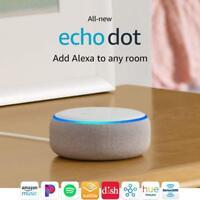 Amazon Echo Dot 3rd Gen White Sandstone Smart speaker w/ Alexa Brand New Sealed