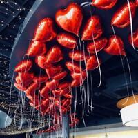 5Pcs/set 18 Inch Love Heart Foil Helium Balloons Wedding Party Birthday Decor UK