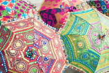 Wholesale Lot of 10 Pcs Indian Traditional Parasols Designer Umbrella Sun Shade