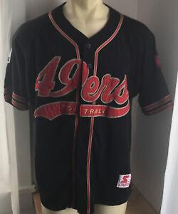 Vintage San Francisco 49ers Baseball Jersey Mens Large Starter NFL RARE HTF