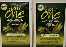 1 pk Hair One Hair Cleanser & Conditioner w/ Olive Oil PKT 608oz