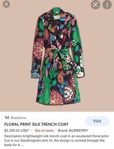 Burberry Floral Belted Coat