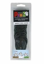 PAWZ 12pk Waterproof Natural Rubber Protective Pet Dog Boot X-small Black