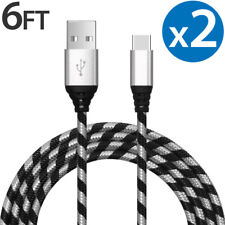 2-PACK Samsung Galaxy S8 S9 Plus Note 9 Fast Charging USB-C Type C Charger Cable