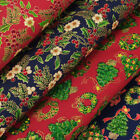 FQ. Season's Greetings Christmas Gift Tree Flower Bow Japanese Cotton Fabric VJ8