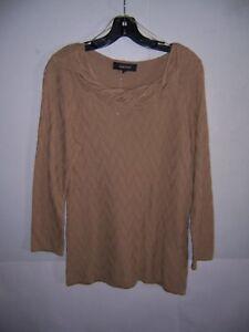 Jones Wear Women's Tan Beige Khaki Pullover Sweater Size M NWT!