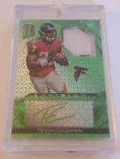 #3/25 Tevin Coleman Rookie Green RPA Panini Spectra Atlanta Falcons Indiana