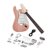 Muslady ST Style Unfinished DIY Electric Guitar Kit Mahogany Body Maple Guitar