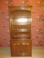 Ethan Allen Bookcase Heirloom Nutmeg Maple Library Wall Unit 10 9202