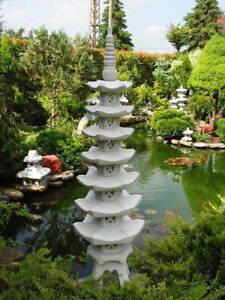Japanische Steinlaterne Pagode 7 stöckig 1,40m  Gartendekoration Frostsicher