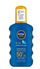 NIVEA SUN Kids Protect & Care Coloured Spray SPF 50+ 200ml New & Free Delivery