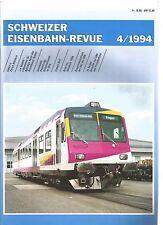 SCHWEIZER EISENBAHN REVUE 04-94 UNTALL IN ZURICH AFFOLTERN / LE SHUTTLE / AM B42