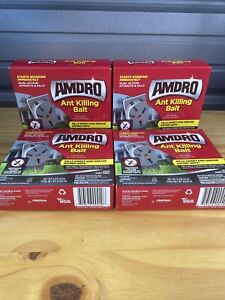 Amdro Ant Killing Bait.4 New Boxes Totaling 32 Ant Killing Bait Traps. Fast Ship