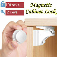 10X Magnetic Cabinet Locks Baby Safety Invisible Child Proof Cupboard