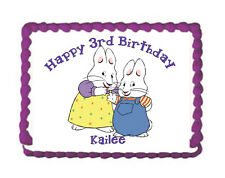 Max and Ruby Premium Frosting Sheet Cake Topper w/FREE Personalization