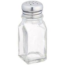 2oz Glass Salt Pepper Shaker 12 Pack Stainless Steel Lid Spice Table Top St