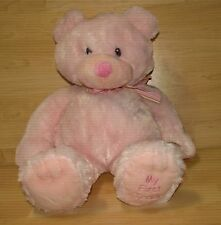 "Russ Baby Girl My First Teddy 19"" Plush Pastel Pink Bear Stuffed Animal Lovey"