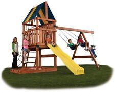 Backyard Play Set Custom Kids Swing Slide Playhouse Outdoor Fun Hardware